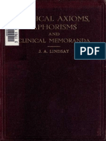 Medical Axioms, Aphorisms, and Clinical Memoranda