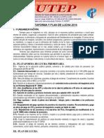 Plataforma y Plan de Lucha 2014