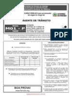Prova DETRAN PB - Agente de Transito