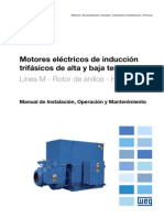 WEG Motor de Induccion Trifasico de Alta y Baja Tension Rotor de Anillos 11171348 Manual Espanol