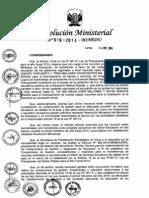 Resolución Ministerial Nº019-14-Minedu