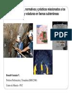 ASPECTOS LEGALES Y PRÁCTICOS RELACIONADOS CON EL USO DE EXPLOSIVOS EN FAENAS SUBTERRÁNEAS