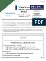 War Crimes Prosecution Watch, Vol. 8, Issue 24 -- February 24, 2014