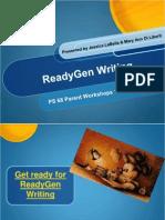 Readygen Writing Parents K-2