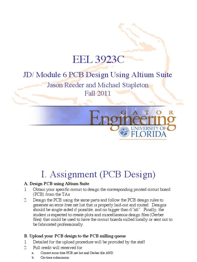 Altium Tutorial R2 Tab Gui Printed Circuit Board Design Training Programs Designer Introduction