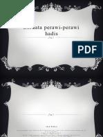Biodata Perawi-perawi Hadis