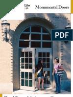 Special-Lite Monumental Door Brochure