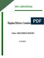 3430005_eletrotecncia - Maquinas Eletricas - Geradores de Energia 01 e 08-08-2012