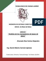 Analisis Comparativo de SMDB Tarea2