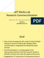 ML Commercialization With Venture Funding