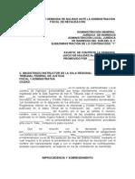 CONTESTACIËN DE DEMANDA DE NULIDAD ANTE LA ADMINISTRACIËN FIS