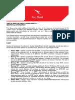Qantas Fact Sheet