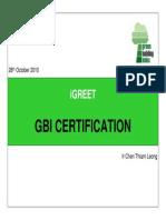 GBI Certification
