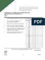 Add Math Paper 1