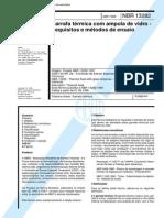 NBR 13282 - Garrafa Termica Com Ampola de Vidro - Requisitos e Metodos de Ensaio