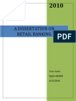 MBA Finance Project on Retail Banking With Special Reference to YES BANK
