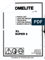 Homelite XL Super 2 Chainsaw Parts Manual