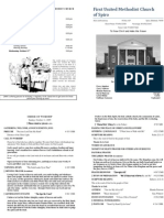 Spiro First United Methodist Church Worship Bulletin for October 11, 2009