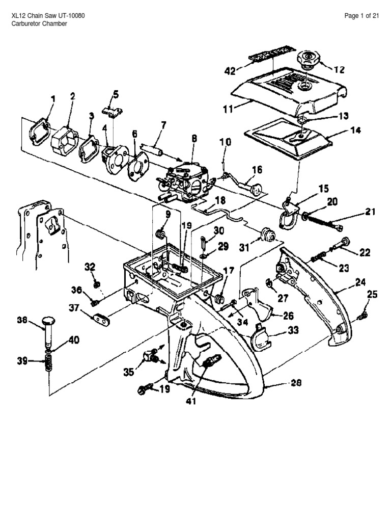 Homelite XL Parts Manual   Ignition System   Engine Technology