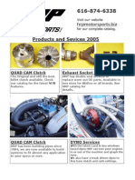 HRP Motor Sports Products and Services Catalog