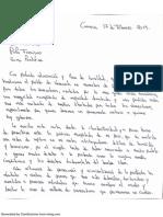 Carta de Leopoldo López a su Santidad Francisco I