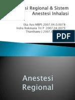 Anestesi Regional & Sistem Anestesi Inhalasi