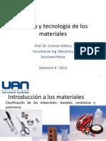 Ciencia y tecnología de los materiales 06-10-2013