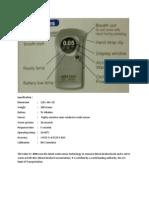 Manual Instructions SC3000 Digital Breathalyser Alcohol Tester
