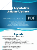 spring 2012 legislative affairs update