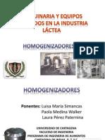 maquinaria y equipos utilizados en la industria láctea