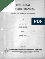 1971 C.C.W. Model 290 Technical Engine Manual