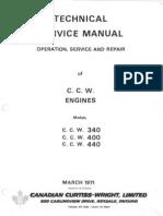 1971 Technical C.C.W. Model 340 Engine Manual