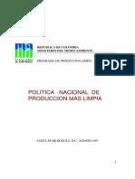 Politica Nacional de Produccion Mas Limpia