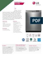 LG LDS5040 Dishwasher Spec Sheet