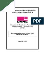 Informe Encuesta de Consumo Cultural 2008