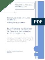 Plan General de  Asesoría Práctica Empresar  ial I-2013.Irma