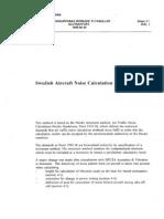 Swedish Aircraft Noise Calculation Method 19950630
