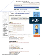 Past Simple and Present Perfect Tenses Hard Answer Keys