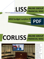Corliss Online Group Financial Mag Mild Budget Surplus for Hong Kong
