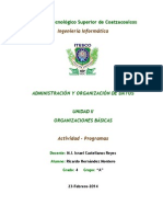 UNIDAD II-Programas-Admon,y Org. de Datos