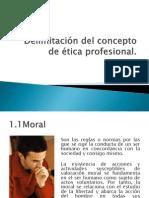Delimitación del concepto de ética