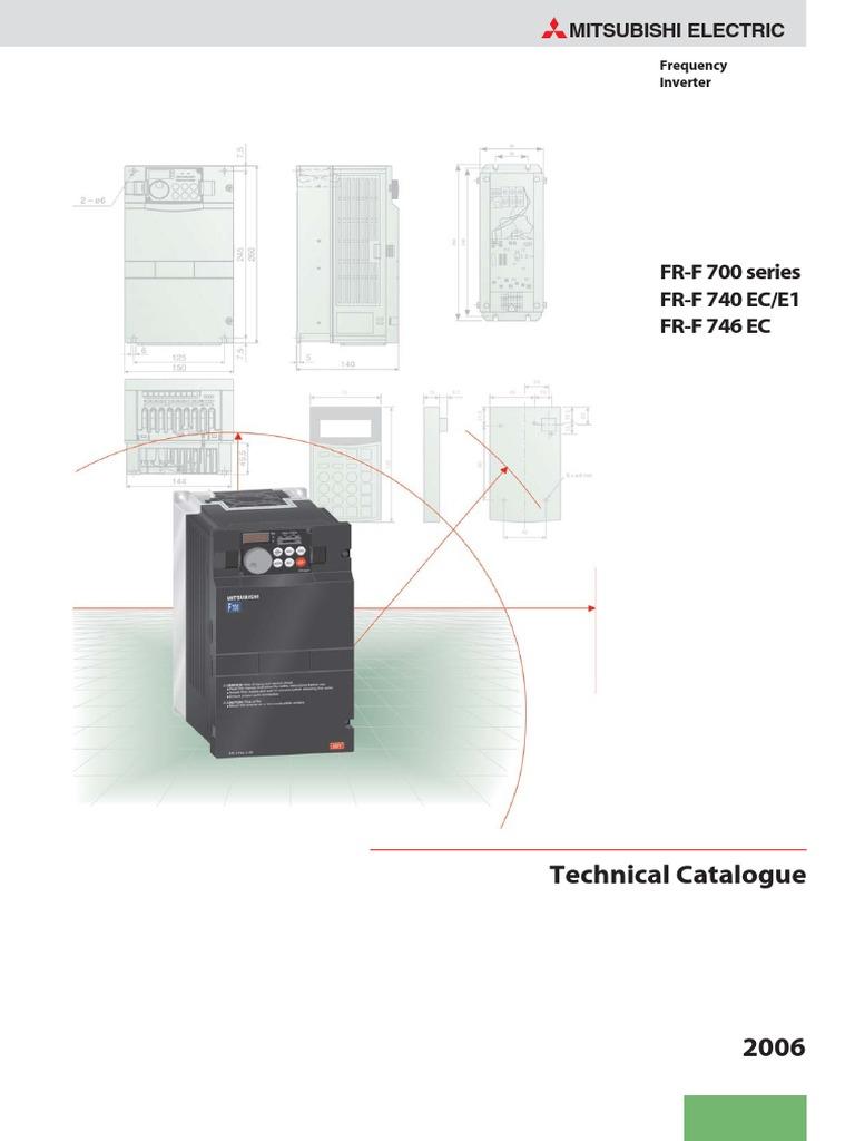 Mitsubishi Fr F700 Power Supply Inverter Panel Pump Wiring Control Diagram 00310