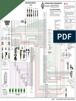 Diagrama Dt466e Egr   Transportation Engineering   Engines   Dt466 Ecm Wiring Diagram      Scribd
