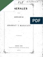 Francisco J. San Román. Minerales en Las Serranias de Amambay. 1877.