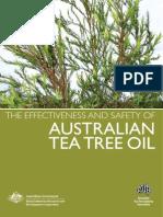 The effectiveness of Australian Tea Tree Oil