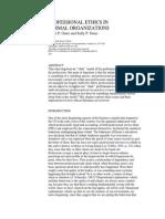 Ethics in Formal Organization