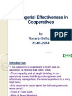 Role of Managers in Co-Operatives