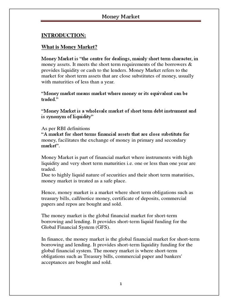 call money market definition