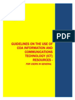 Guidelines Use of ICT Resources Users in General