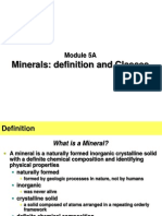 Module 5A - Minerals, definition